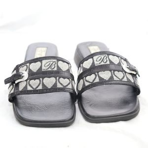 Brighton Yvette Black Signature Sandals Size 7.5 M
